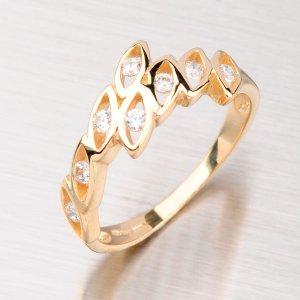 Zlatý prsten se zirkony GZ1733
