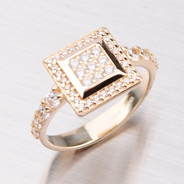 Exklusivní prsten ze žlutého zlata GZ2499
