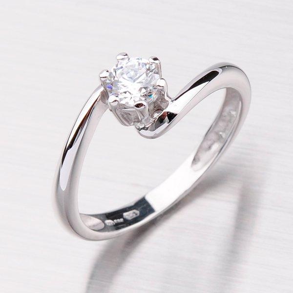 Zlatý prsten se zirkonem GZ1588B