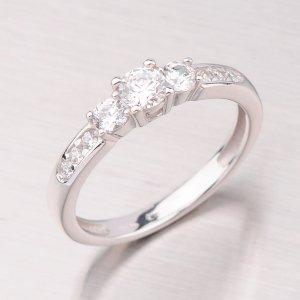 Prsten s bílými zirkony GZ2360B