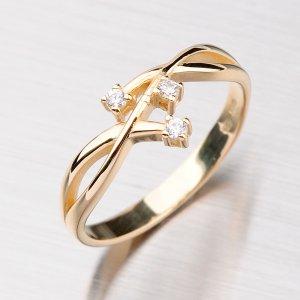 Elegantní prsten zlatý GZ2190