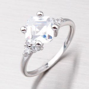 Prsten zlatý se zirkony GZ2308B