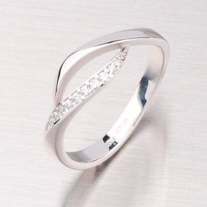 Prsten z bílého zlata GZ2346B