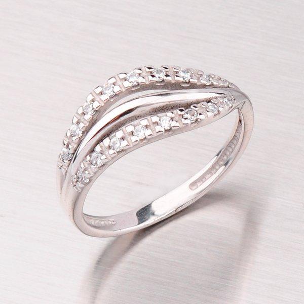 Zlatý prsten se zirkony GZ2009B