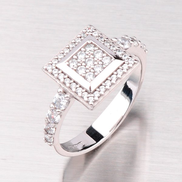 Exklusivní prsten z bílého zlata GZ2499B