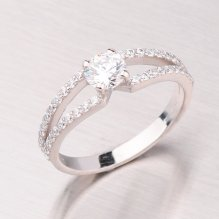 Zlatý prsten se zirkony GZ2358B