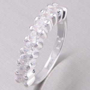 Stříbrný prsten se zirkony 11430010