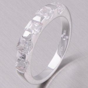 Stříbrný prsten se zirkony 11420119