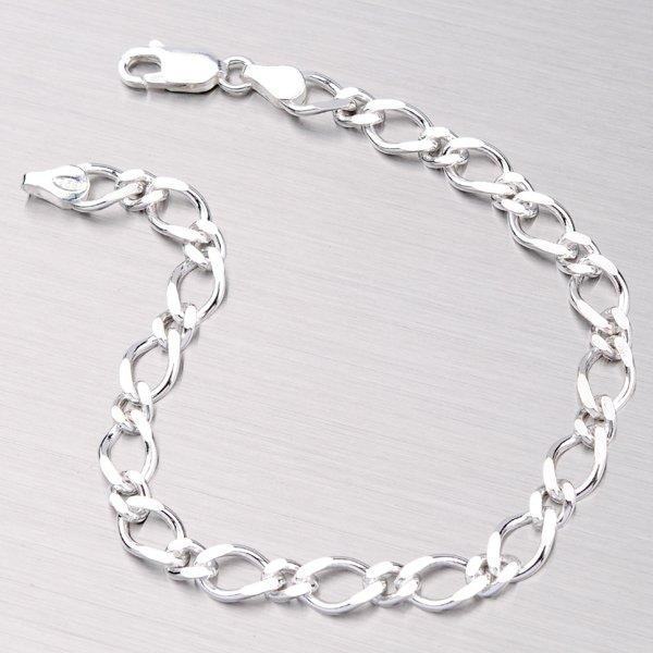 Stříbrný náramek GAD-1+1RMB-120N