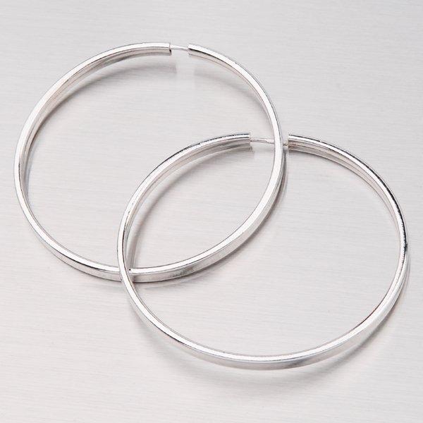 Náušnice stříbrné kruhy 45 mm M7376