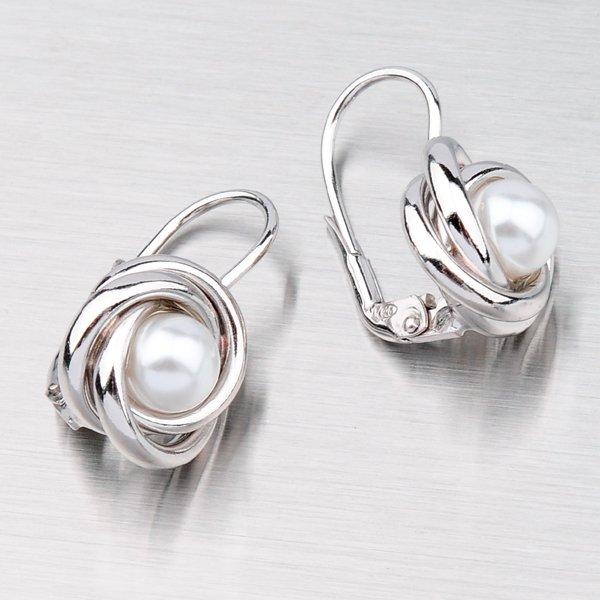Stříbrné náušnice s perlami MORM7328