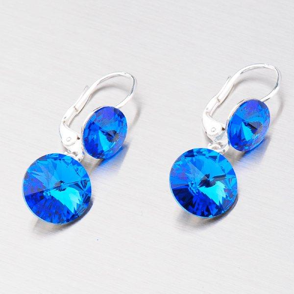 Náušnice s tmavě modrými krystaly N336TM-JK