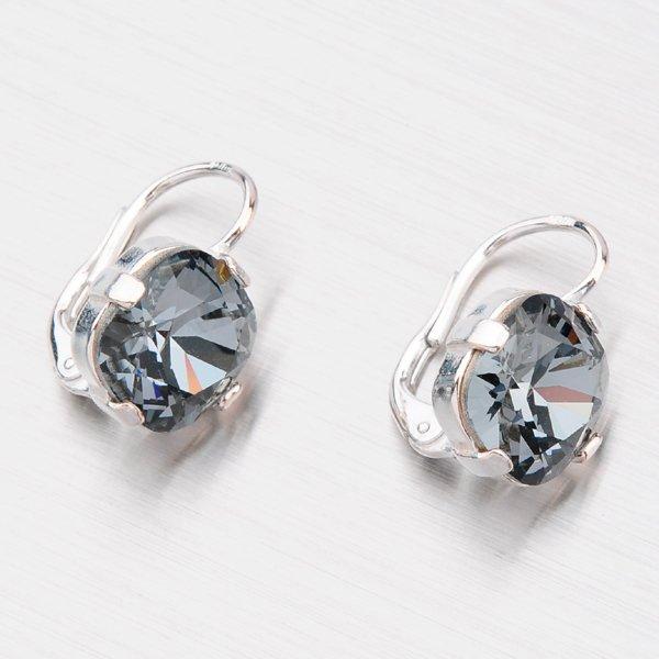 Náušnice s krystaly N361ČN-JK