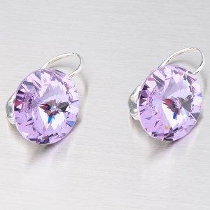Náušnice s fialovými krystaly 14 mm N335F-JK