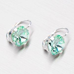 Stříbrné náušnice s krystaly N361Z-JK