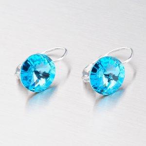 Náušnice se světle modrým krystalem 10 mm N325SM-JK