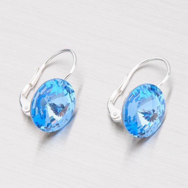 Náušnice s modrými krystaly  12 mm N312M-JK