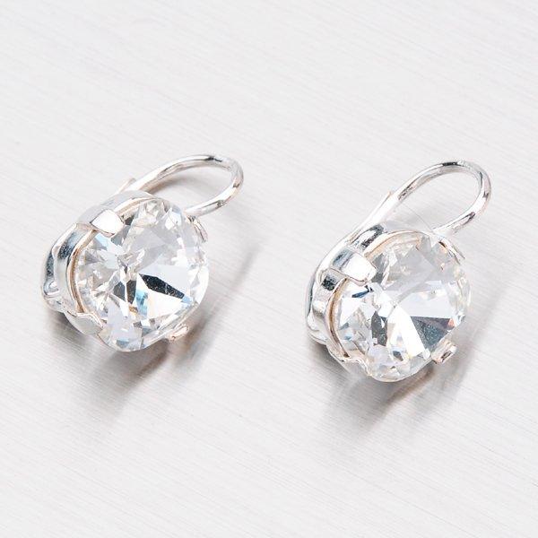 Stříbrné náušnice s krystaly N361B-JK