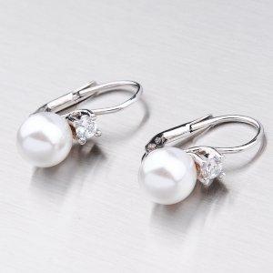 Náušnice s perlou a zirkonem ORMZ6009D8