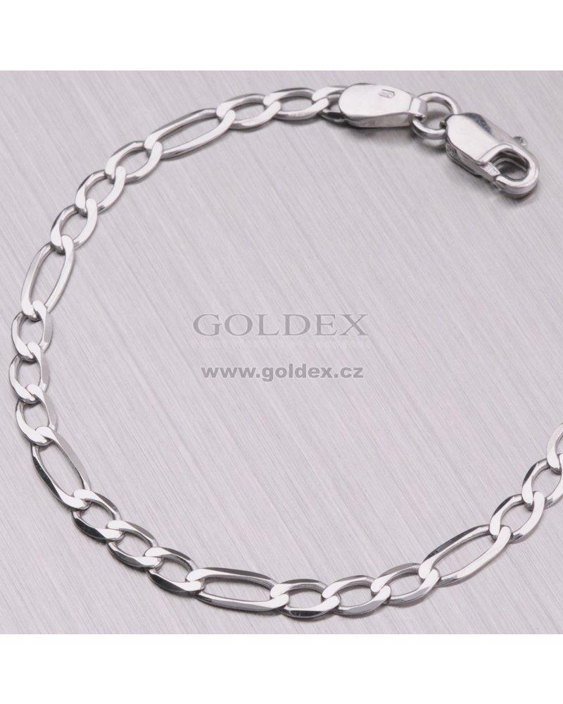 f15b49ca2 Zlatý náramek - Figaro 3+1 44-1292 : Goldex.cz