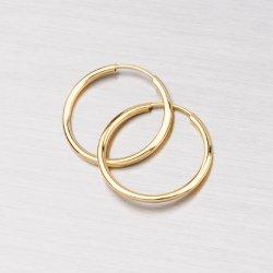 Kroužky zlaté 15 mm 12-068