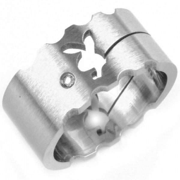 Ocelový prsten se zirkony 233069