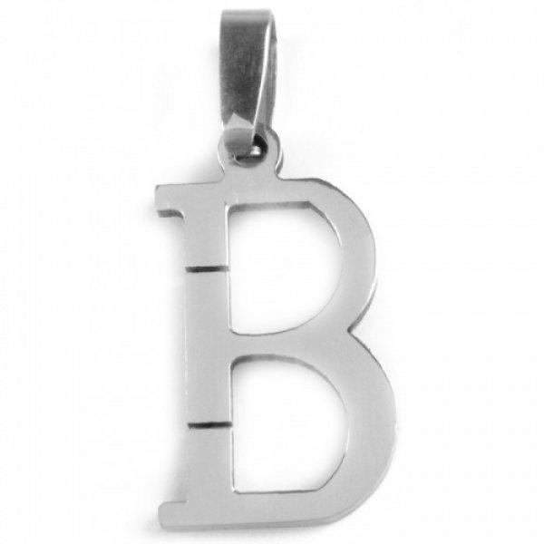 Ocelový přívesek - písmenko B 53260218-B