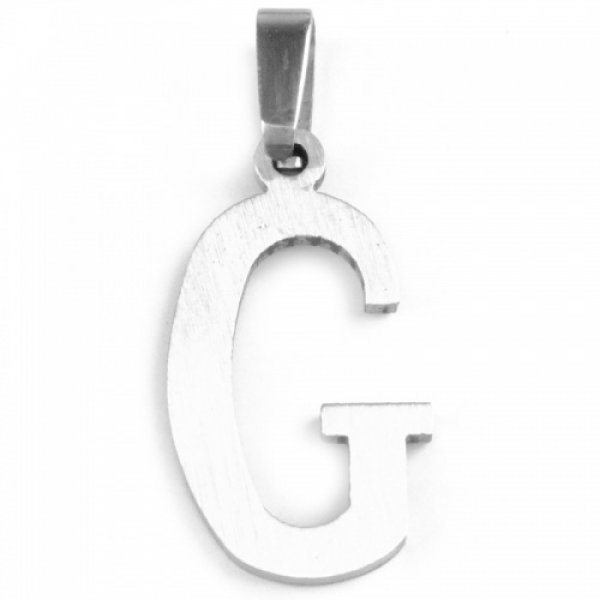 Ocelový přívesek - písmenko G 53260218-G