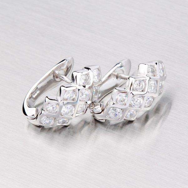 Elegantní stříbrné náušnice TE0039