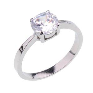 Ocelový prsten se zirkonem GTR099