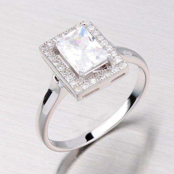 Prsten stříbrný se zirkony VER9800-07