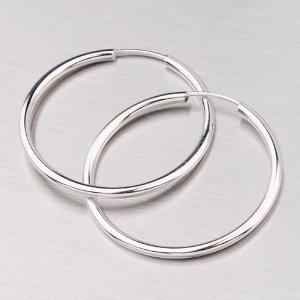 Kruhy z bílého zlata 25 mm 12-055